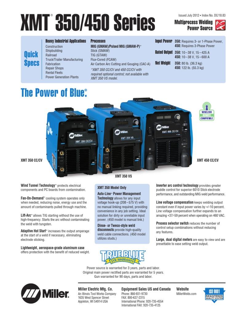 soldadora miller xmt_350_450 pdf | Switch | Welding