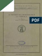 Iorga-O Tiparitură Românească La Uppsala-1926