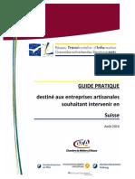Guide pratique pour les artisans qui souhaitent intervenir en Suisse