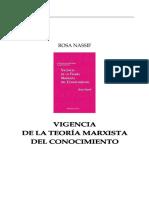 Rosa Nassif Vigencia de La Teoria Marxista Del Conocimiento
