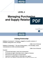 Managing of Supply Relationship