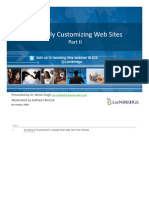 Cultural Customizing Web Sites Part II