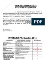Notice of Internship UET