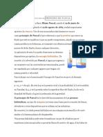 Definición De principio de Pascal