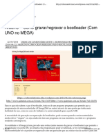Arduino – Como Gravar e Regravar o Bootloader (Com UNO No MEGA)