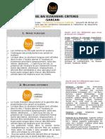 Critères Du Label Bai Euskarari -SAREAN-