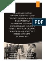 Mejorar el punto de agenda infancia - Aprendizaje y Servicio - Colegio Augusto Salazar Bondy
