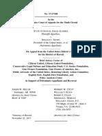 Citizens United & Citizens United Foundation - Hawaii v. Trump 9th Circuit Amicus Brief (November 22 2017)