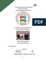 Informe Proyecto de Emprendimiento