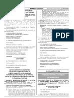 Norma que modifica requisitos para los postulantes en las elecciones regionales y municipales.