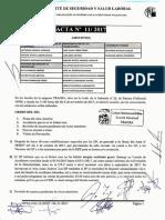 Acta 11/2017 Comité de Seguridad y Salud Laboral UT 2 CV