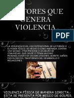 Factores Que Genera Violencia