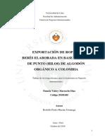 EXPORTACIÓN DE ROPA PARA BEBÉS ELABORADA EN BASE A TEJIDO DE PUNTO (HILOS) DE ALGODÓN ORGÁNICO A COLOMBIA  .pdf