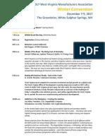 Winter Convention Agenda Dec 5