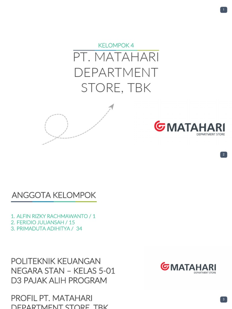Proses Bisnis Matahari Dept Store