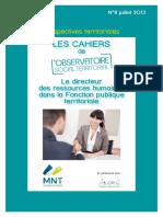 Cahier n8 OST Le DRH Dans La FPT Juillet 2013