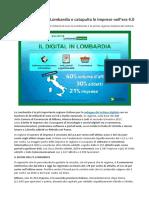 Lombardia Digitale, Con Fatturato Di 20 Miliardi Prima Regione Italiana