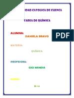 Tarea de Química Daniela Bravo