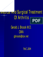 Medical Tretment of Arthritis