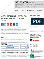 Node MCU UDP Listener - Mobile Phone Sensor Data - Root Said