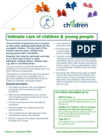 Intimate Care of Children and Young People Policy