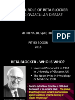 BENEFICIAL ROLE OF BETA BLOCKER IN CARDIOVASCULAR DISEASE