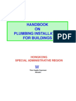Handbook on Plumbing Installation for Buildings - Hk Sar