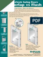 Swing Doors - Overlap vs. Flush Doors Detail Sheet