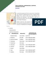 LIMITES de LAS Provincias y Distritos de PUNO
