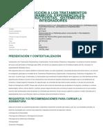 Introducción a los tratamientos psicodinamicos UNED guía interna de la asignatura