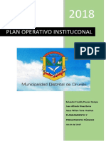 Plan Operativo Institucional Orurillo