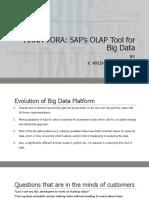 Sap Hana Vora Sap's Olap Tool for Big Data