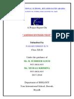 Amniocentesis test certificate
