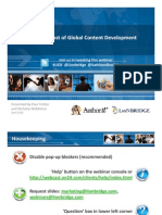 Reducing Total Cost of Global Content Development