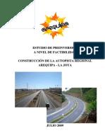 Autopista Arequipa La Joya - SNIP 119510 - Factibilidad