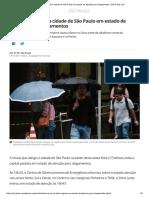 Chuva Deixa Toda a Cidade de São Paulo Em Estado de Atenção Para Alagamentos _ São Paulo _ G1