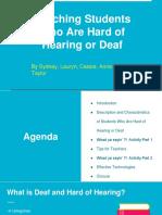 teaching deaf or hard of hearing