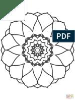 Flower Mandala 4 Coloring p