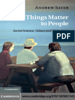 [R Andrew Sayer] Why Things Matter to People