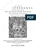 Airs - Bataille - Livre 3e - 1611