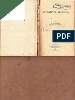 The Notary's Manual - S.ragunath - 1921