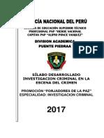 Silabo Investigación Criminal en La Escena Del Crimen 2