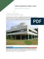 Arquitectura. Estilo y Copia (Revista)