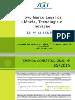 Marco Legal Da Ciencia, Tecnologia e Inovacao