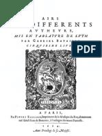 Airs - Bataille - Livre 5e - 1614