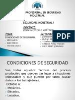 Condiciones de Seguridad - Seguridad Industrial
