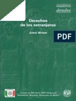 Derechos de Los Extranjeros. Jorge Witker