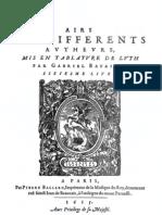 Airs - Bataille - Livre 6e - 1615