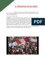 Crisis de Violencia en El Perú