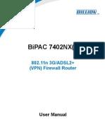 Billion 7402NX User Manual